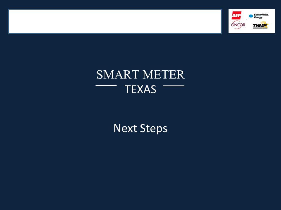 SMART METER TEXAS Next Steps