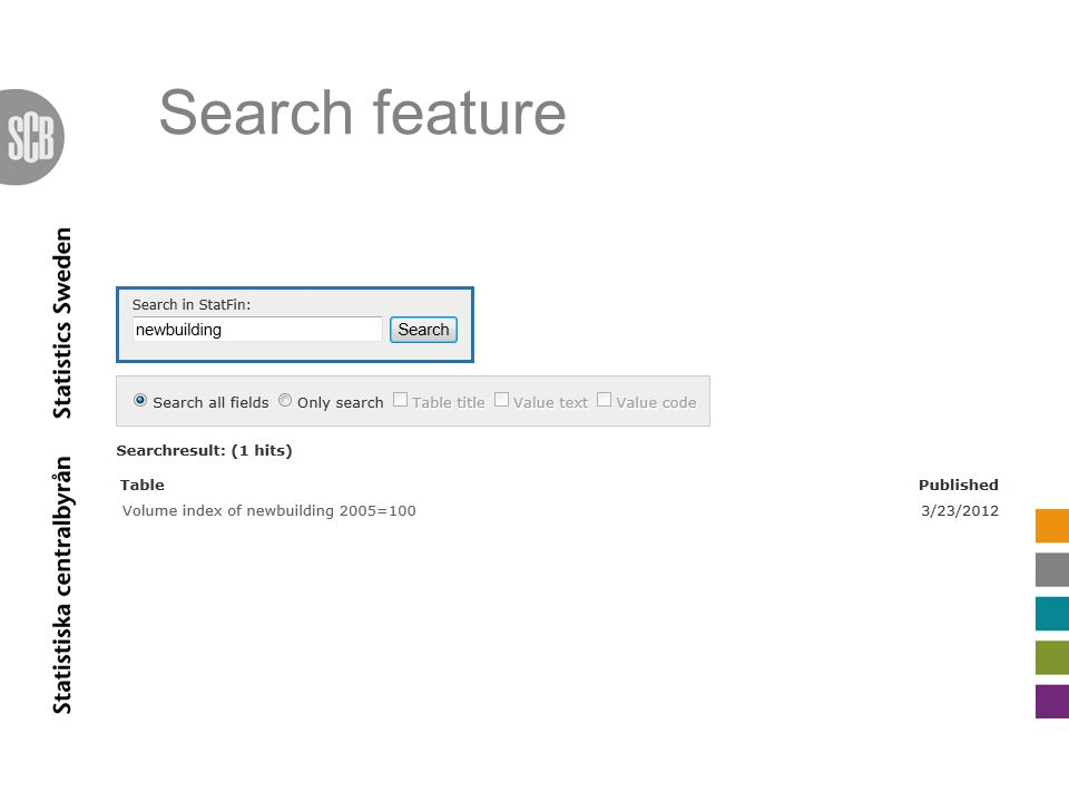 Search feature