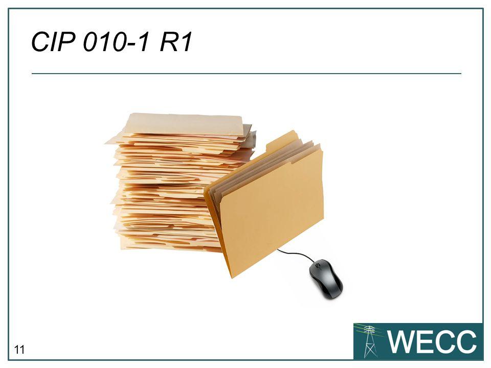 11 CIP 010-1 R1