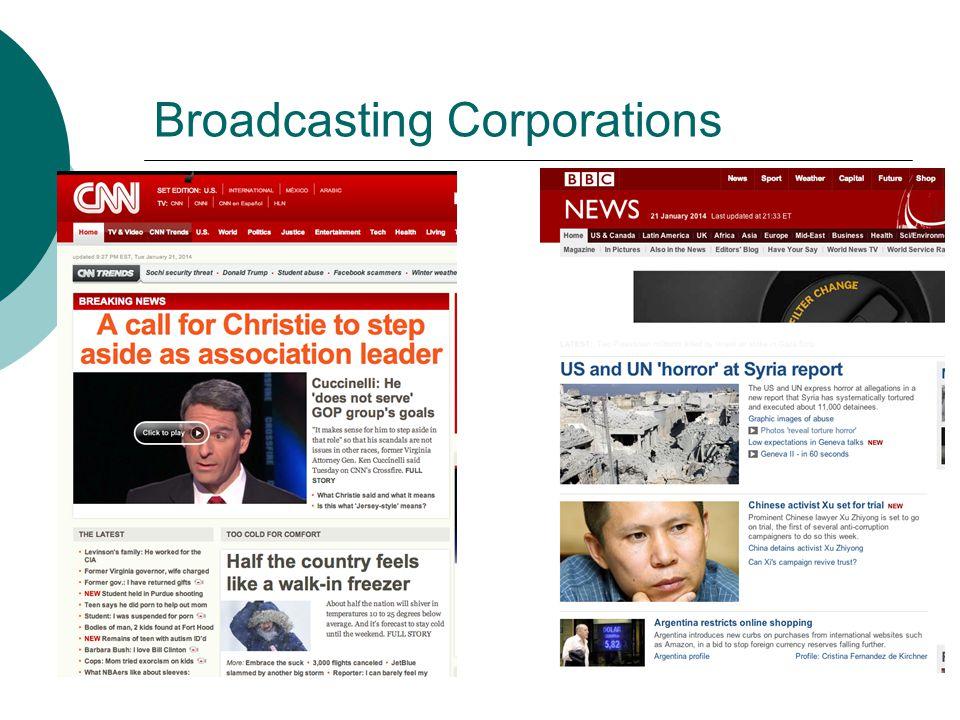 Broadcasting Corporations