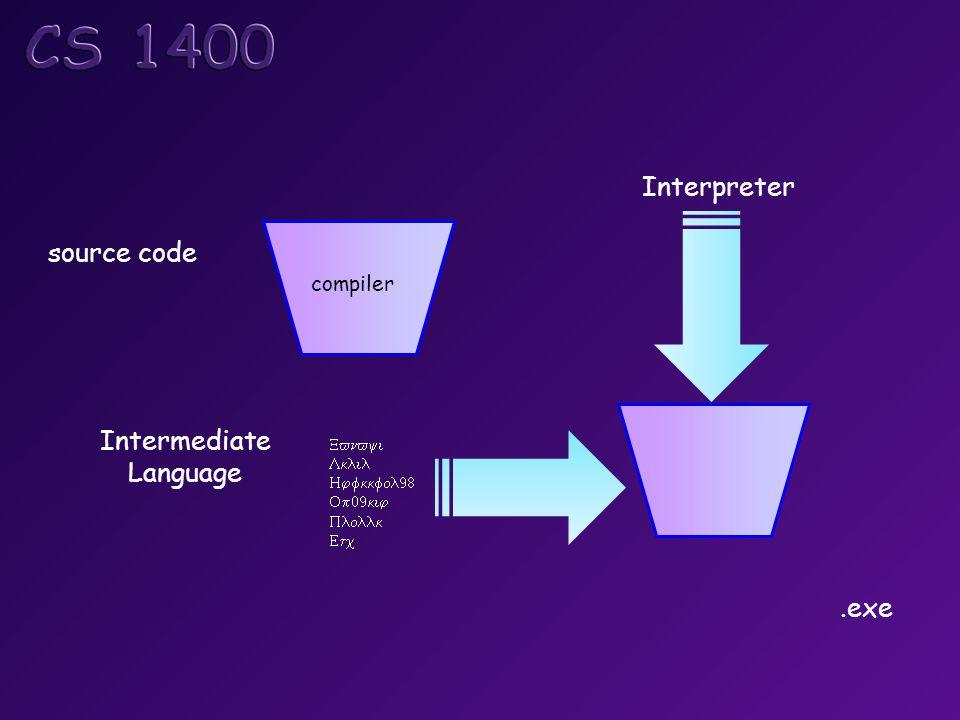        Intermediate Language Interpreter compiler source code code segment data segment stack segment.exe