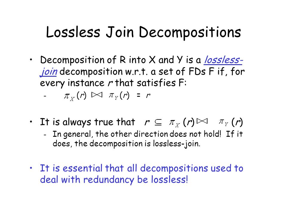 Question Can any relation be decomposed into BCNF while ensuring lossless join and dependency preservation?