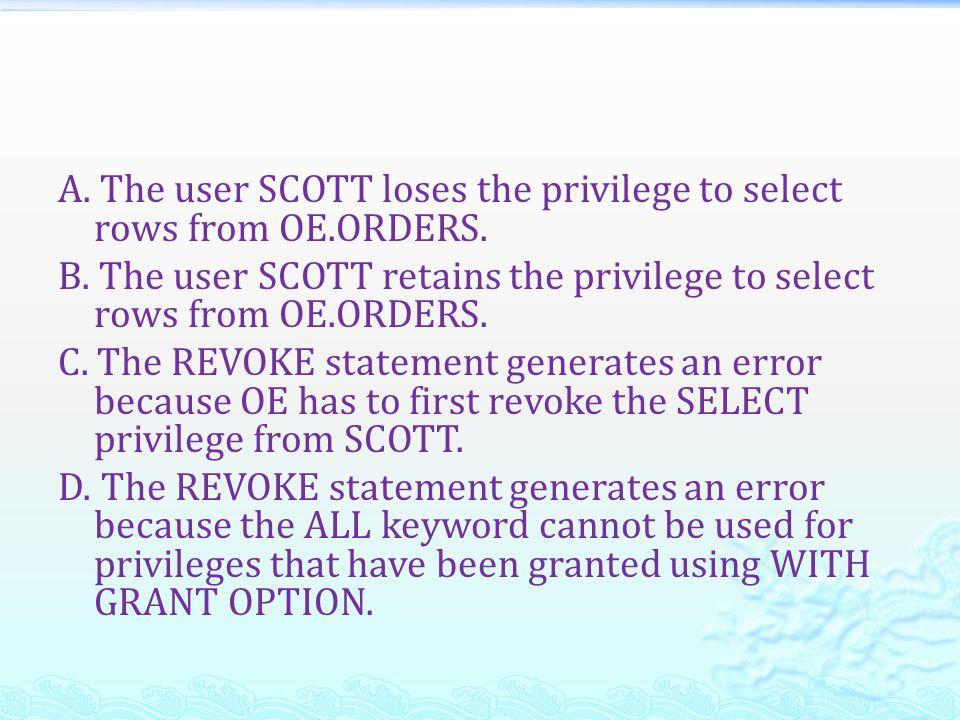 系統權限  系統權限:取得資料庫的存取權  物件權限:操控物件的內容