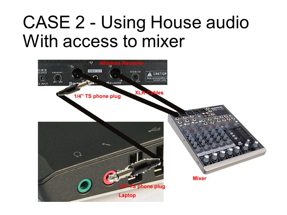 CASE 2 - Using House audio With access to mixer