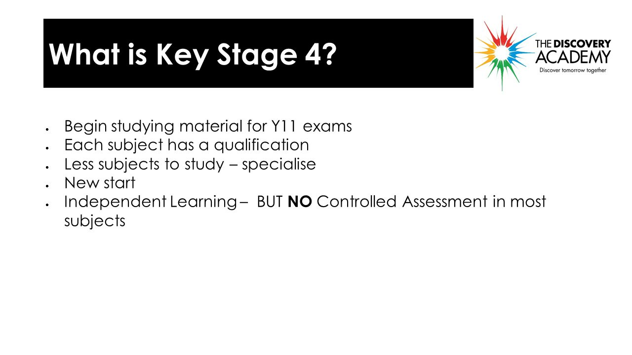 What is Key Stage 4.