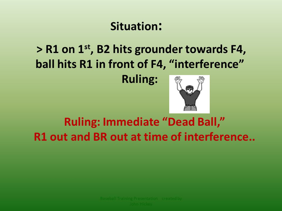 5-1-1 Ball becomes dead immediately when: f) a Fair Batted Ball: 1.