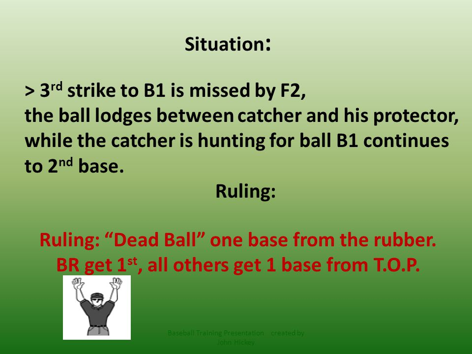 5-1-1 Ball becomes dead immediately when: h) If the umpire handles a live ball, calls Time , gives Do Not Pitch Signal or inadvertently announces Foul .
