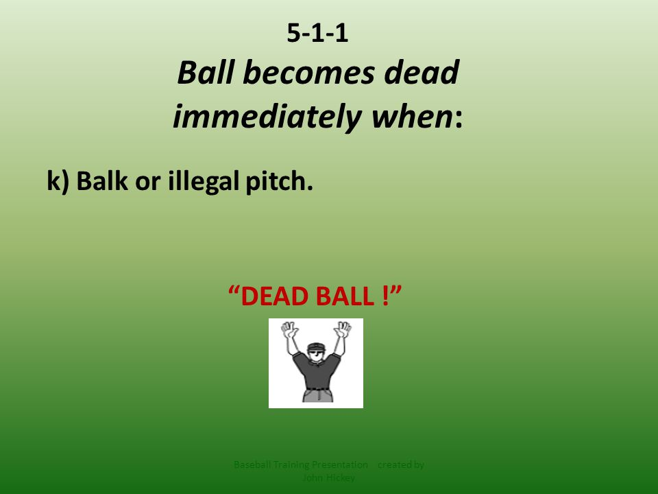 5-1-1 Ball becomes dead immediately when: l) Batted, pitched or thrown ball touches a designated media area or anyone or anything partially in the designated media area.