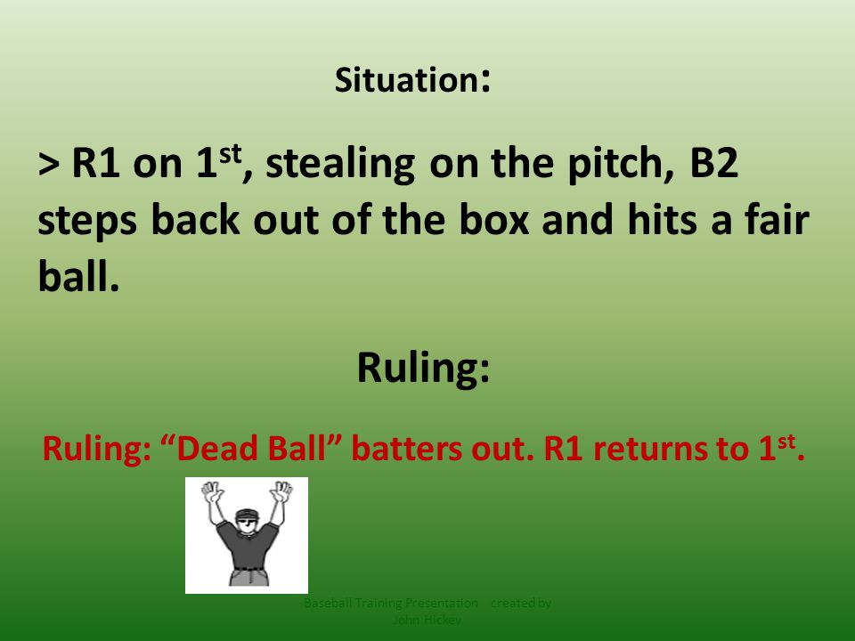 5-1-1 Ball becomes dead immediately when: d)The batter enters the box with an illegal bat.