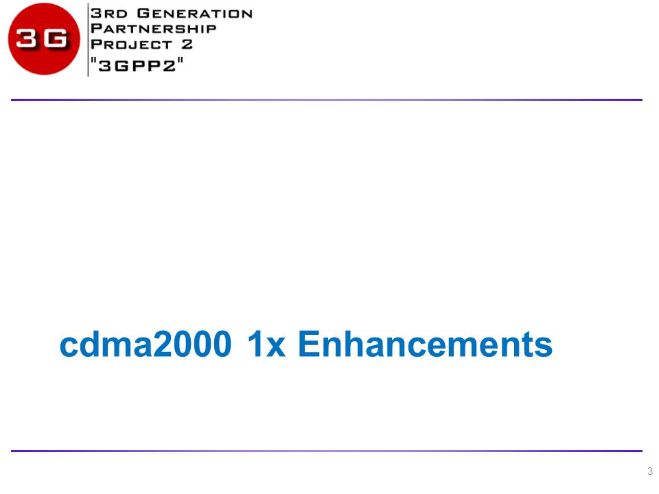 cdma2000 1x Enhancements 3