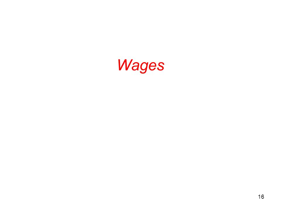 Wages 16