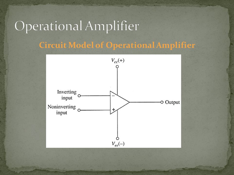 Circuit Model of Operational Amplifier