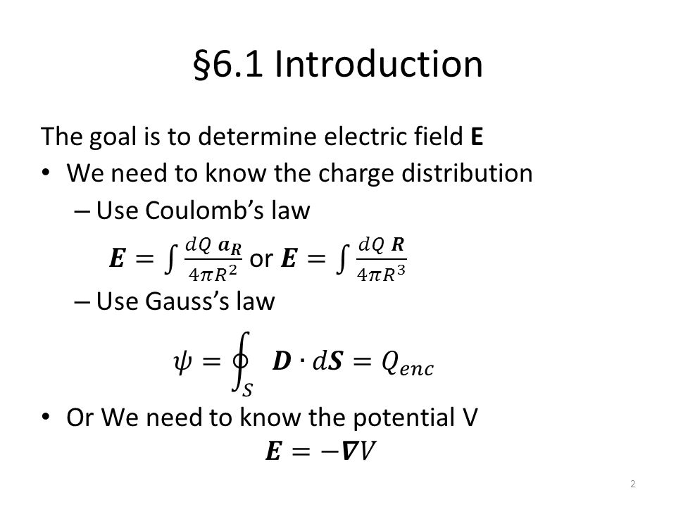 However, we usually don't know the charge distribution or potential profile inside the medium.