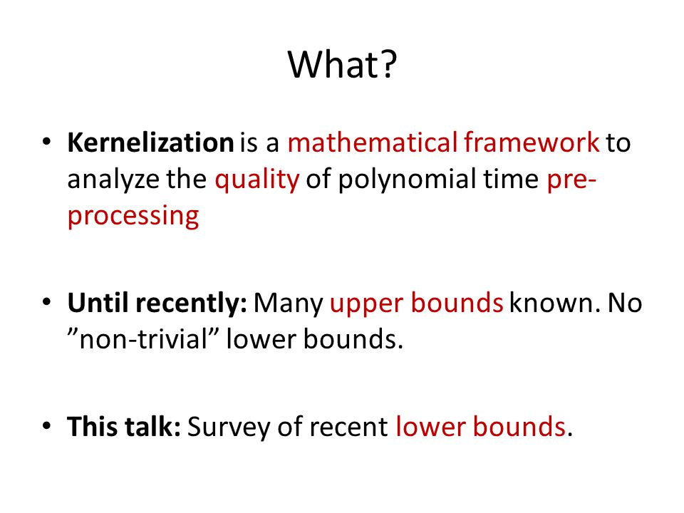 Which problems have f(k) - kernels.