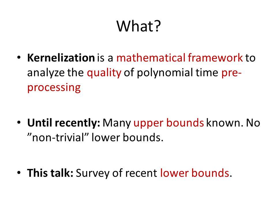 Part I Introduction to Kernelization