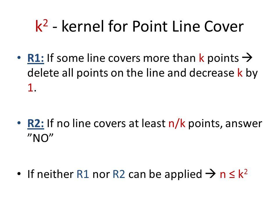 Edge Clique Cover IN: Graph G, integer k.