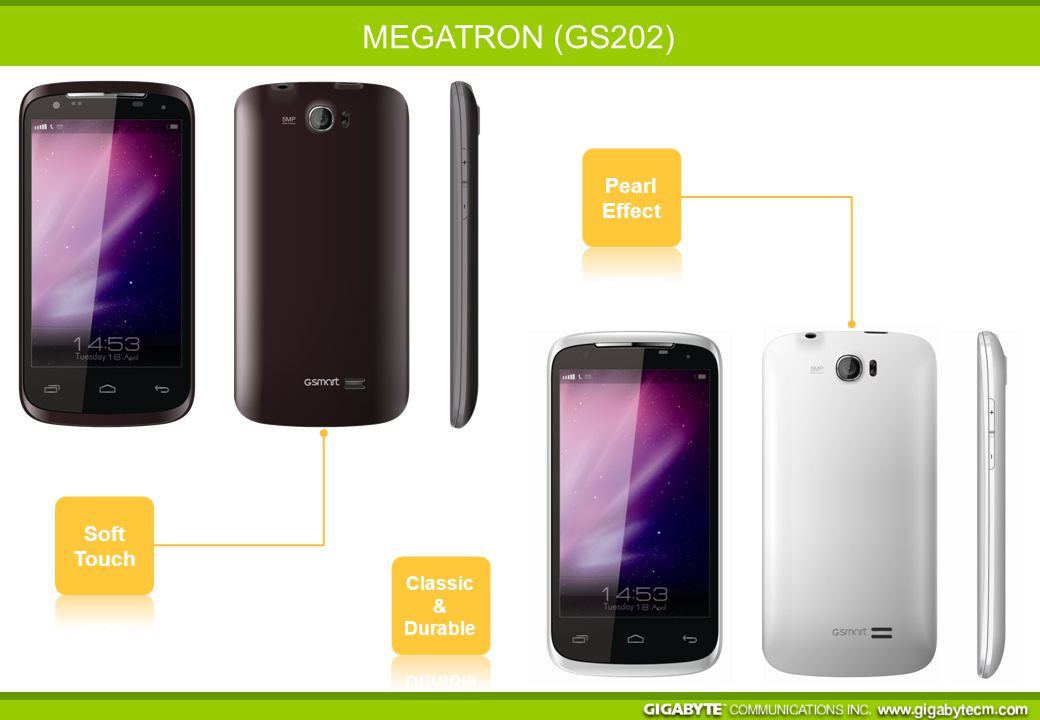 SPECIFICATIONS Network GSM/GPRS/EDGE: 850/900/1800/1900 MHz HSDPA/WCDMA: 900/2100 MHz OS Android 4.0 aka Ice Cream Sandwich Platform Mediatek MT6577 Dual Core @ 1 GHz Display 4.3 WVGA (IPS) with Capacitive Touch Panel Memory ROM: 4 GB/ RAM: 512 MB Micro SD, up to 32 GB Camera 5.0MP AF (Rear) & DUAL LED + 0.3MP (Front) Connectivity Wi-Fi b/g/n, Bluetooth 3.0, Micro USB Size 130.5 x 66.5 x 10.9 mm/ 147.6g Battery 1500 mAh (removable) What's more.