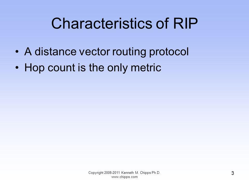 Comparing RIP V1 to V2 Copyright 2008-2011 Kenneth M. Chipps Ph.D. www.chipps.com 4