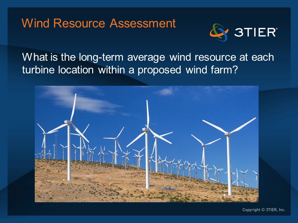 Wind Resource Assessment Install met towers for a period of ≥ 1 year. 60 m