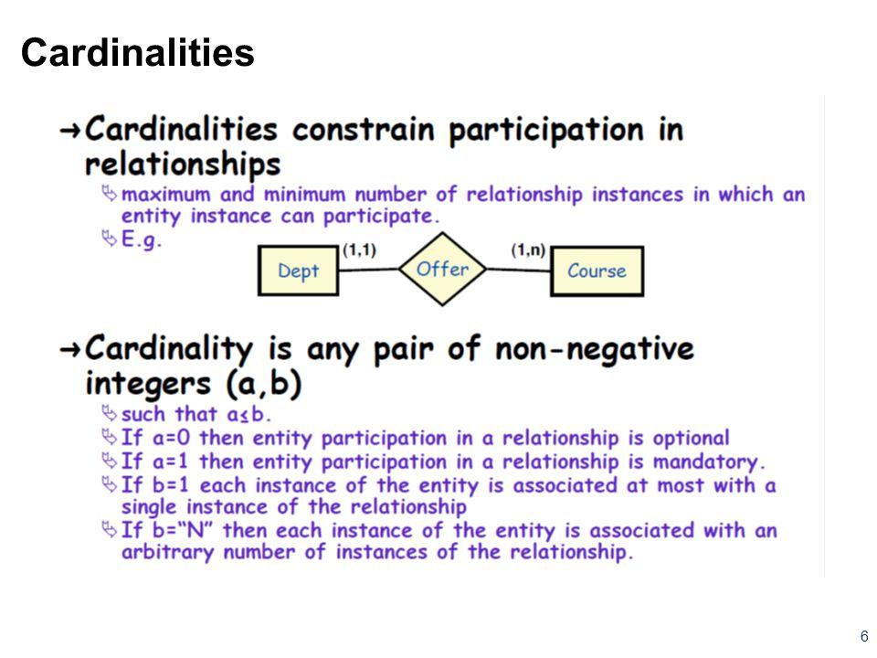 Cardinalities 6