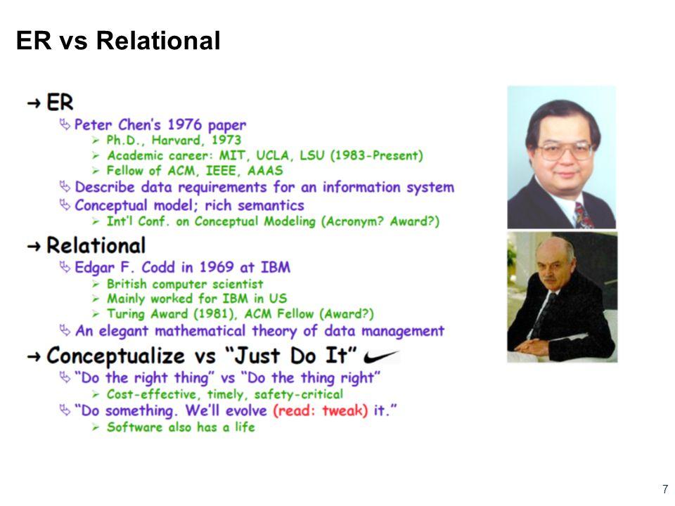ER vs Relational 7