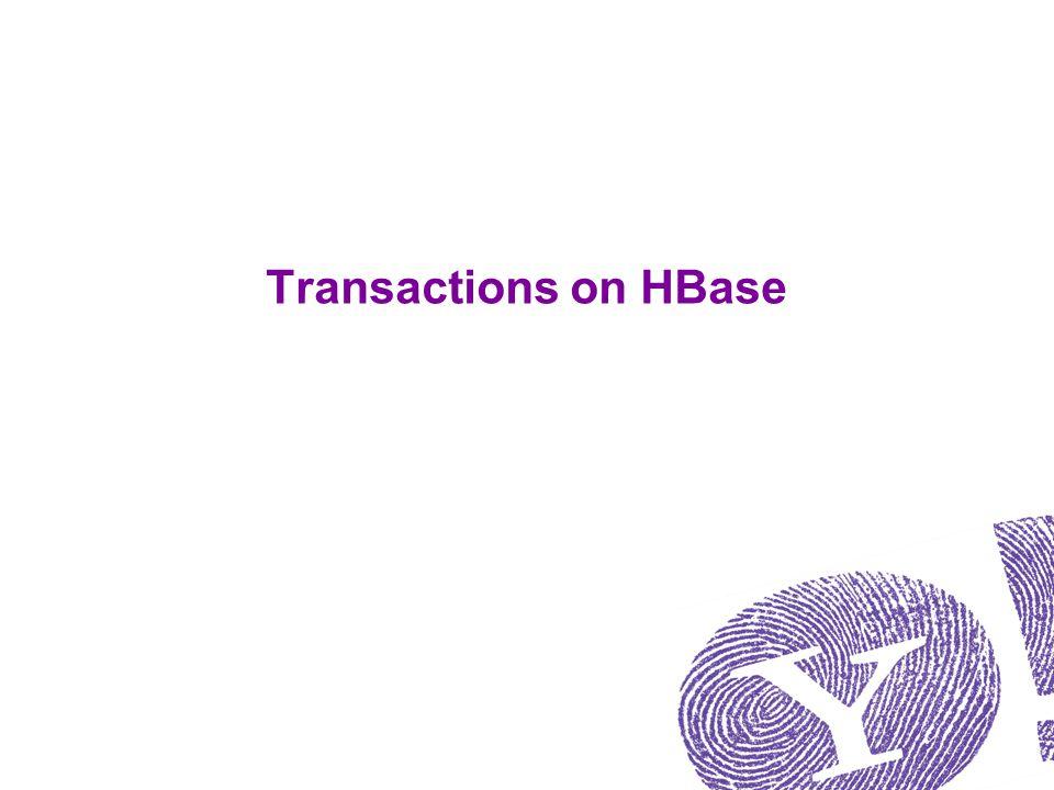 Transactions on HBase