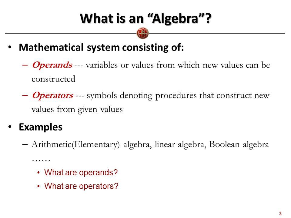 What is Relational Algebra.