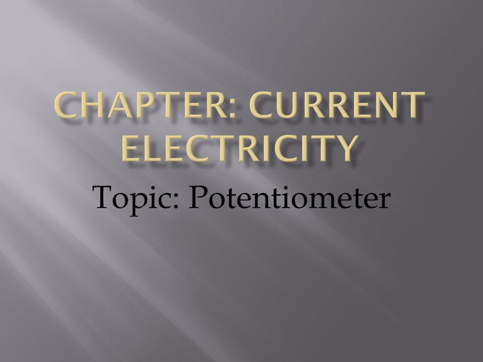 Topic: Potentiometer