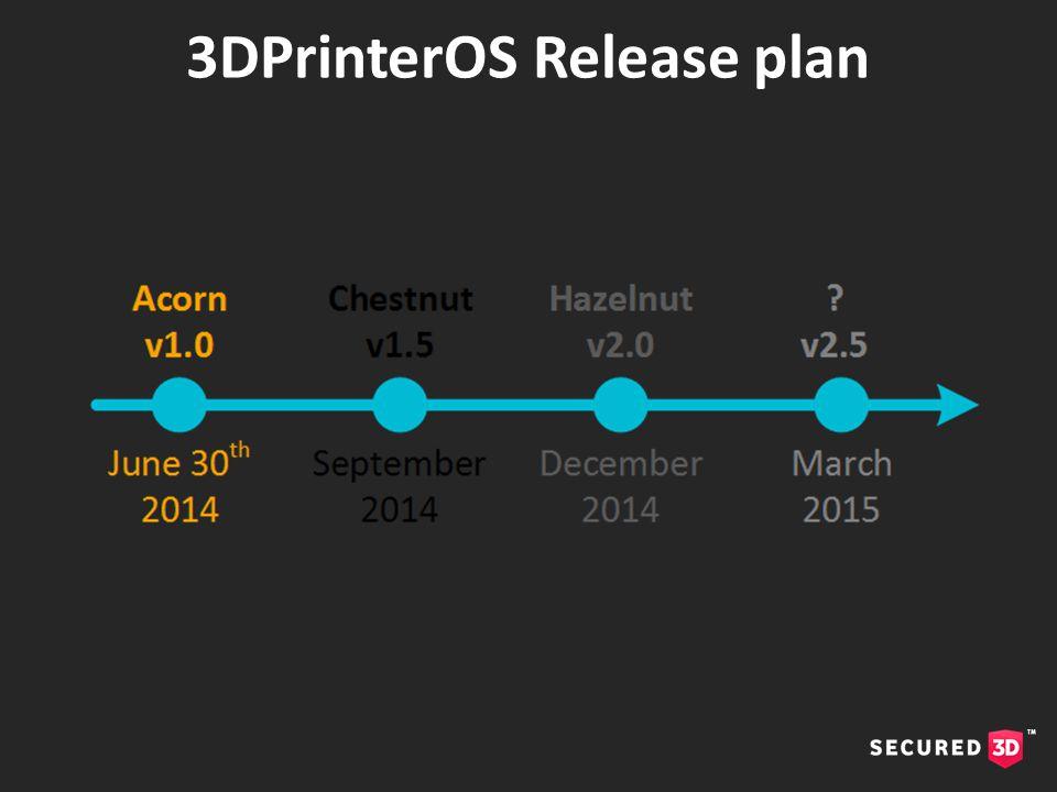 3DPrinterOS Release plan