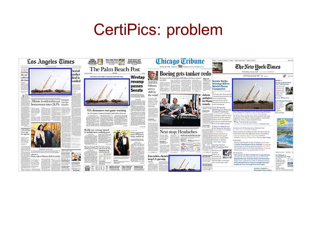 CertiPics: problem
