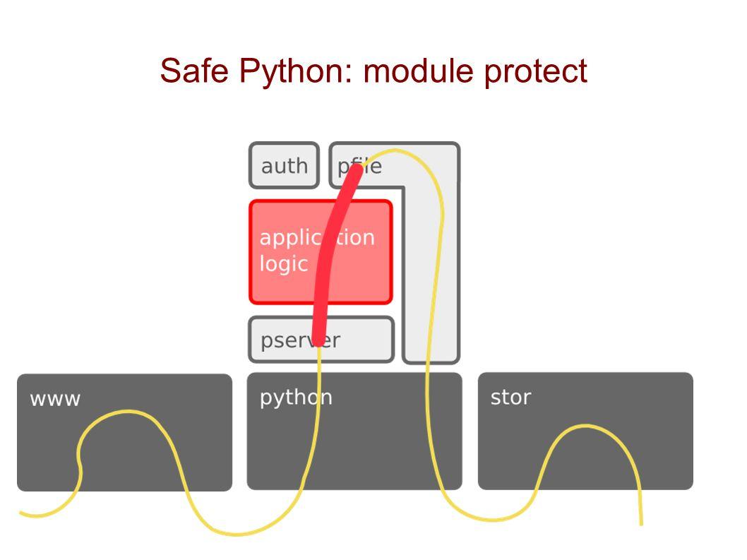 Safe Python: module protect