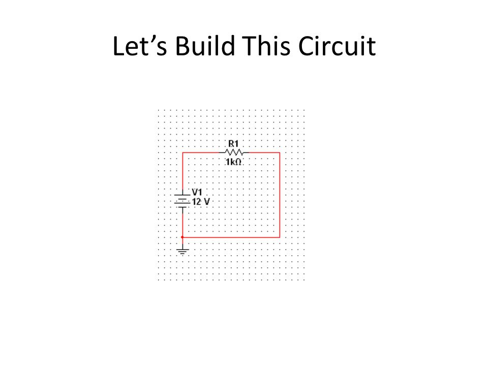 Let's Build This Circuit