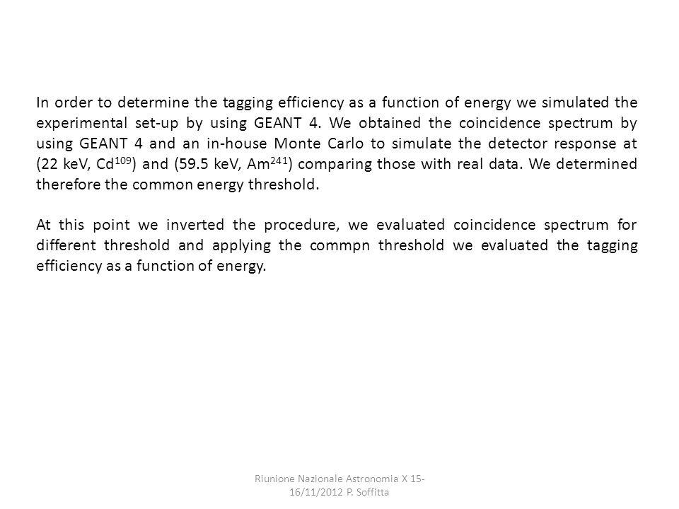 Riunione Nazionale Astronomia X 15- 16/11/2012 P.