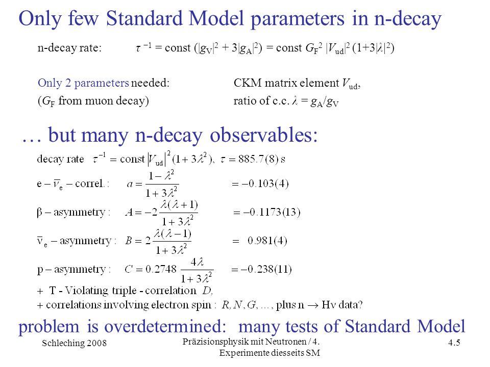 Schleching 2008 4.5 Präzisionsphysik mit Neutronen / 4.