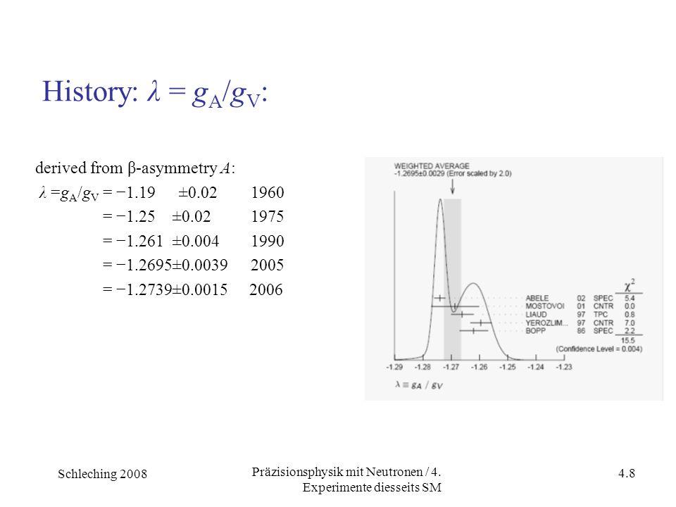 Schleching 2008 4.8 Präzisionsphysik mit Neutronen / 4.