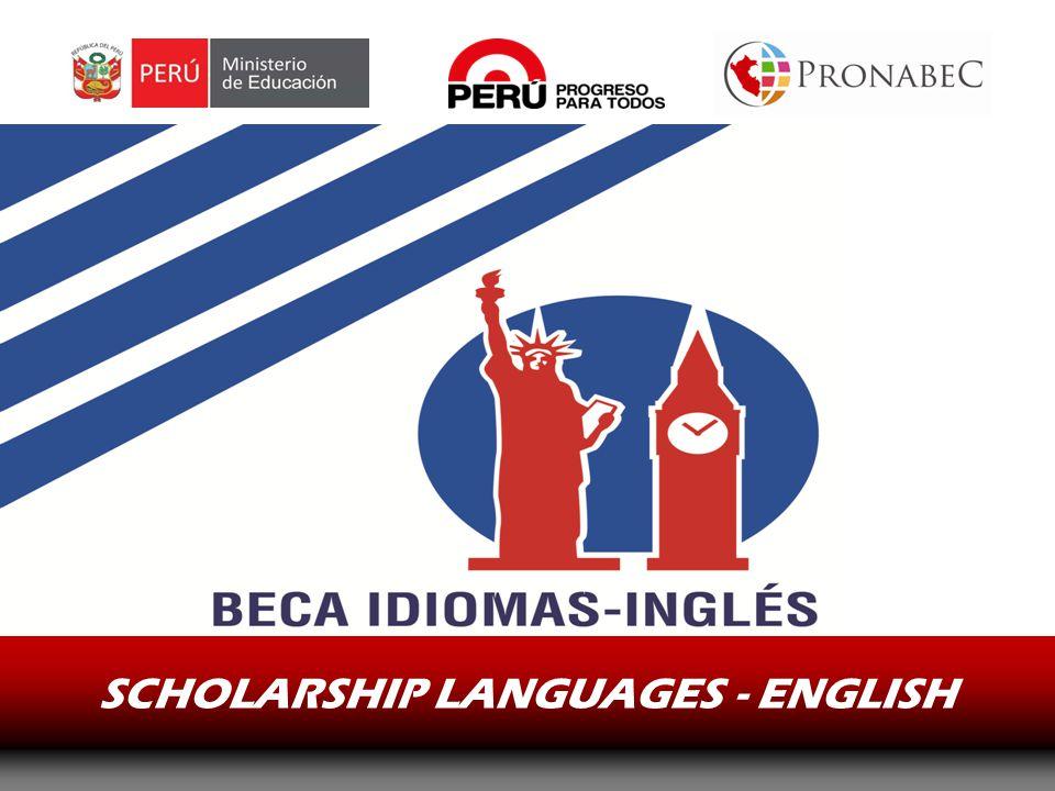 SCHOLARSHIP LANGUAGES - ENGLISH