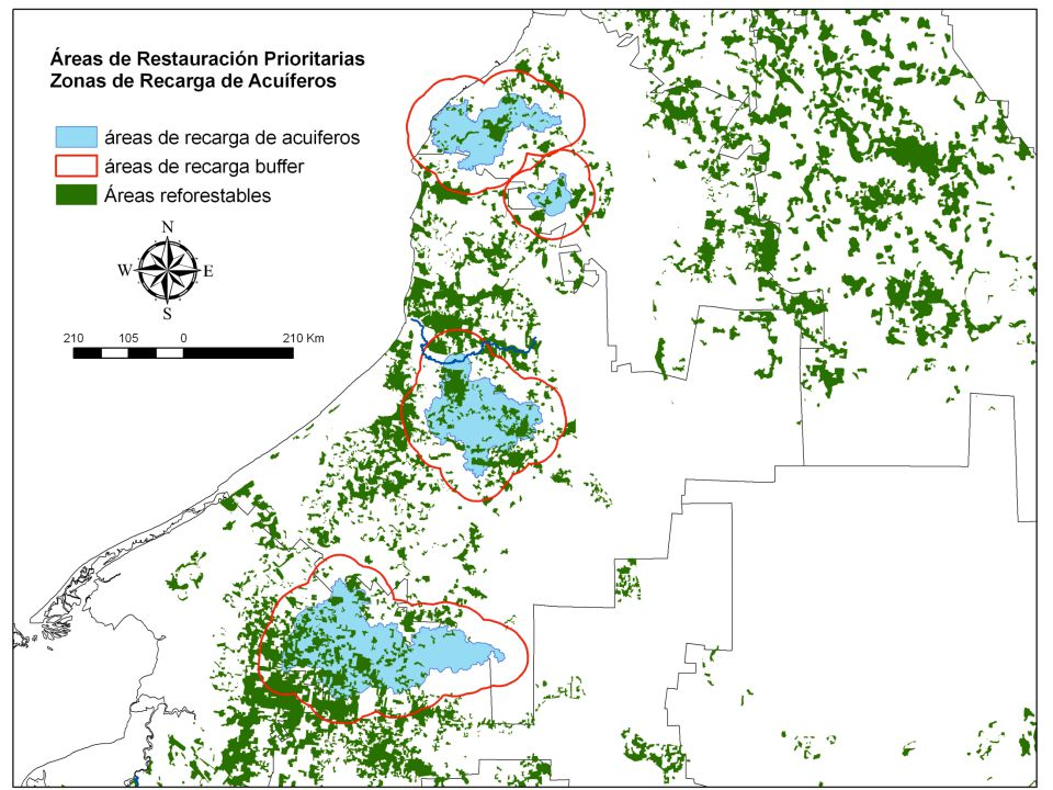 1 2 3 4 5 6 Timberless projects Biological corridor Campeche´s REDD areas Natural Protected Areas Municipalities boundaries