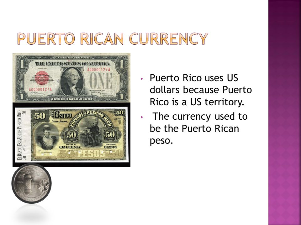 Puerto Rico uses US dollars because Puerto Rico is a US territory. The currency used to be the Puerto Rican peso.