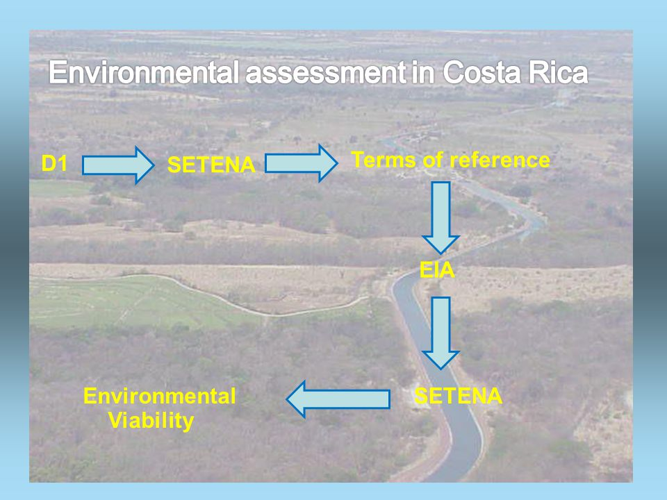 D1 SETENA Terms of reference EIA Environmental Viability SETENA