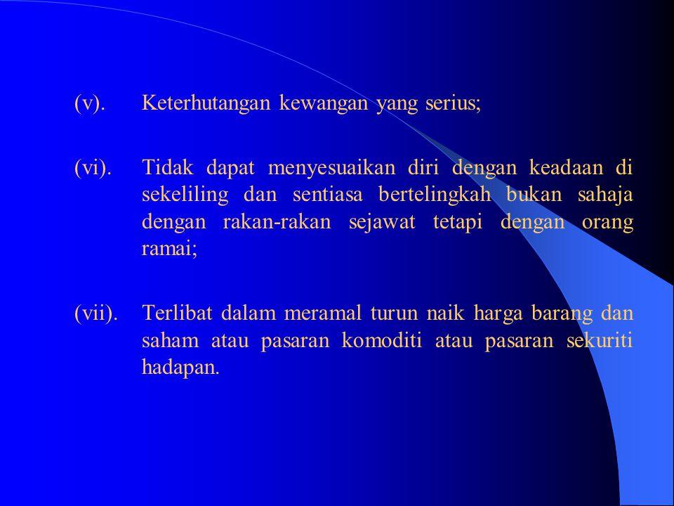 4(2)(d)Seseorang pegawai tidak boleh berkelakuan dengan sedemikian cara hingga memburukkan nama atau mencemarkan nama Perkhidmatan Awam. Seseorang peg