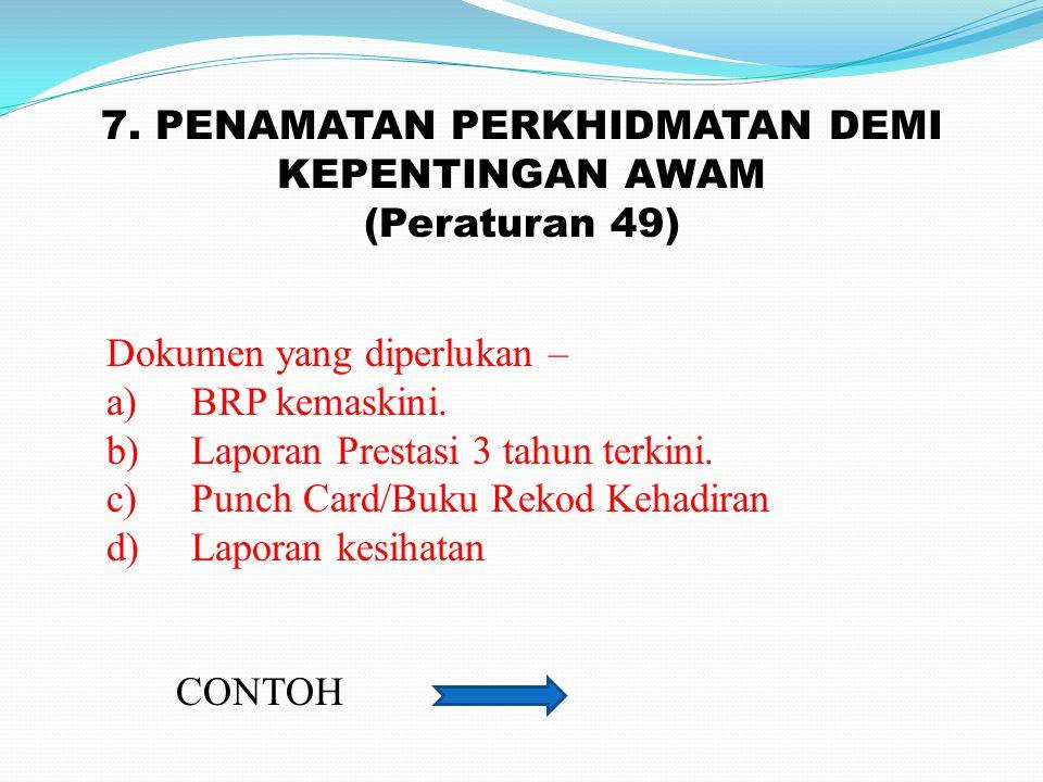 6. GANTUNG KERJA CONTOH Dokumen yang diperlukan – 1. SURAT SABITAN/KEPUTUSAN MAHKAMAH 2. RAYUAN KPD MAHKAMAH.