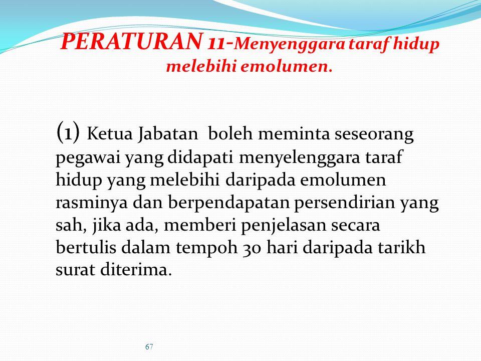 Sampaikan keputusan Ketua Jabatan beserta satu salinan borang pengisytiharan harta yang telah ditandatangani untuk simpanan pegawai dan satu salinan d
