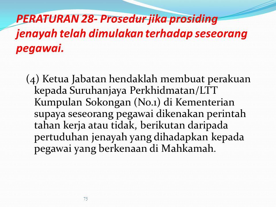a) Pada permulaan perbicaraan, dapatkan maklumat yang berikut:- pertuduhan atau pertuduhan-pertuduhan terhadap pegawai Jika ditangkap, tarikh, waktu (