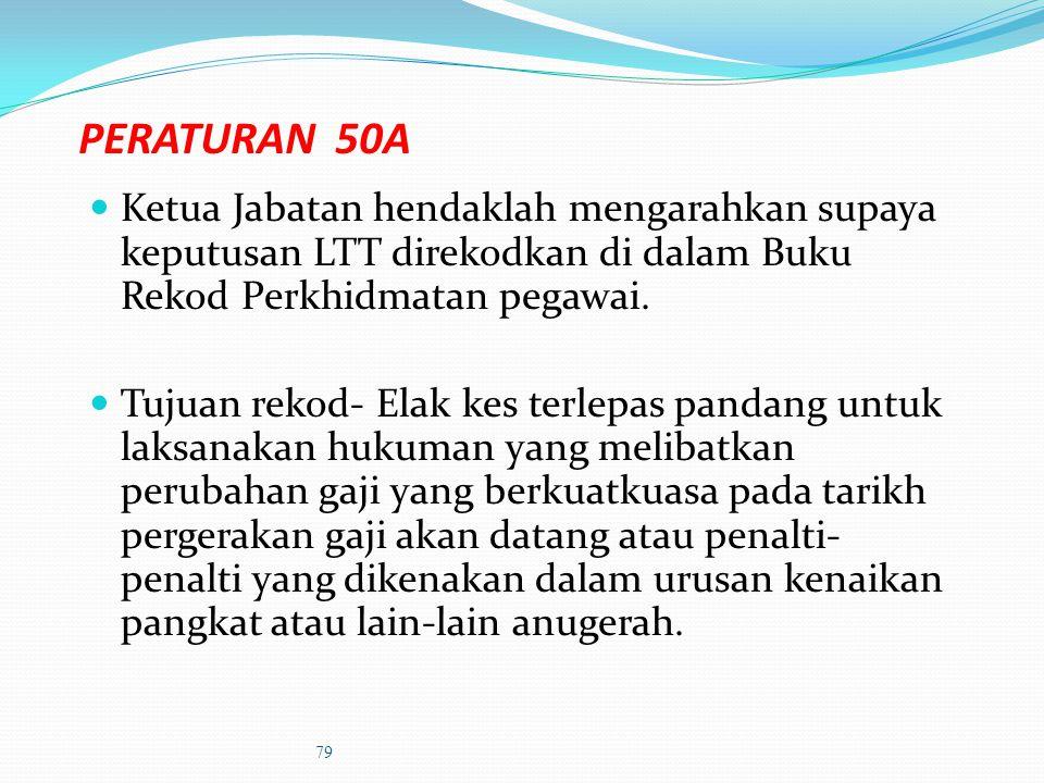 PERATURAN 49- penamatan perkhidmatan (1)Ketua Jabatan boleh memperakukan kepada Kerajaan supaya seseorang pegawai ditamatkan perkhidmatan demi kepenti
