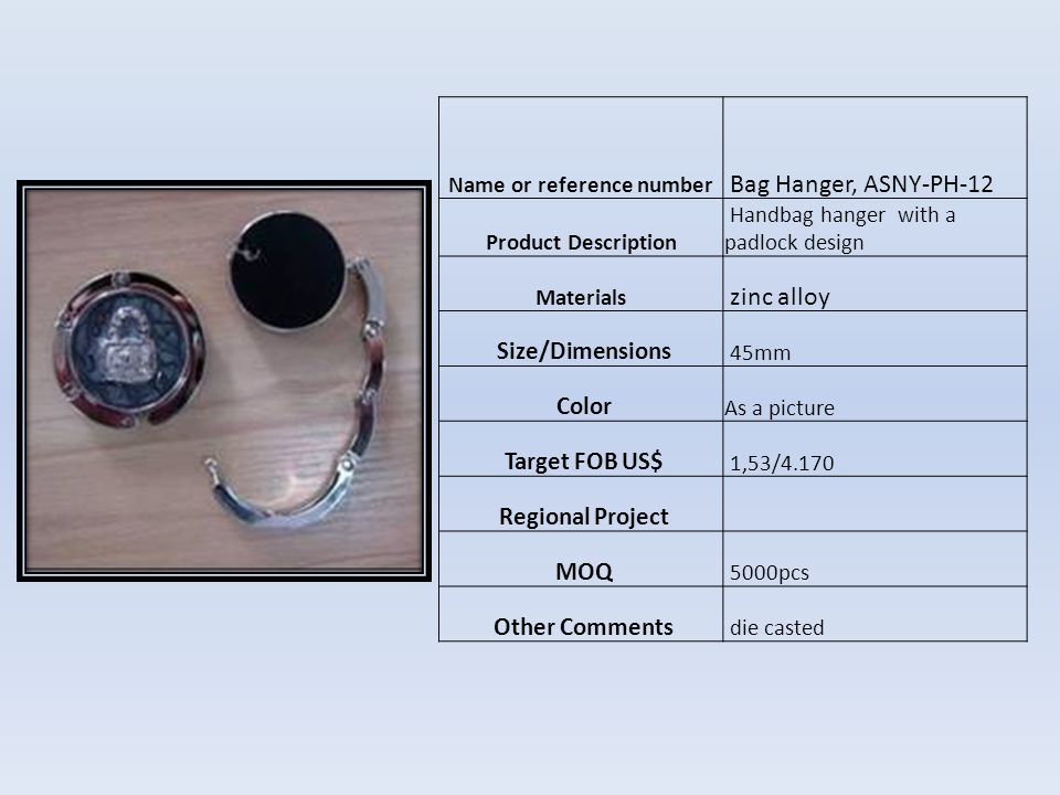 Name or reference numberBJ04573B Product Description MaterialsChemical fiber Size/Dimensions 6am Color Como foto Target FOB US$ $0,38 Regional Project MOQ 10.000pcs Other Comments