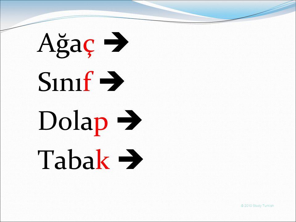 © 2010 Study Turkish Ağaç  Sınıf  Dolap  Tabak 