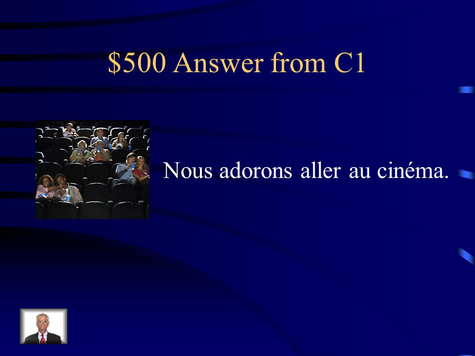 $500 Question from C1 Choose the caption that fits the picture a.Ils jouent souvent aux échecs.