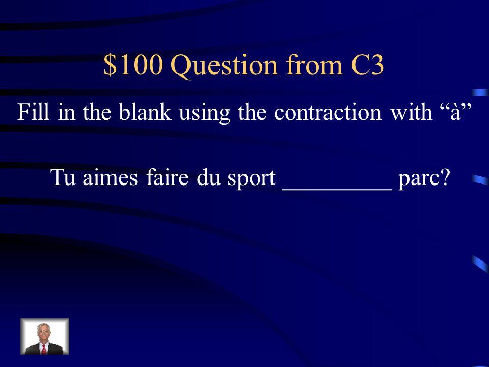 $500 Answer from C2 Vous ________ beaucoup à ___ école, Mr. Delacroix.. travaillez l'