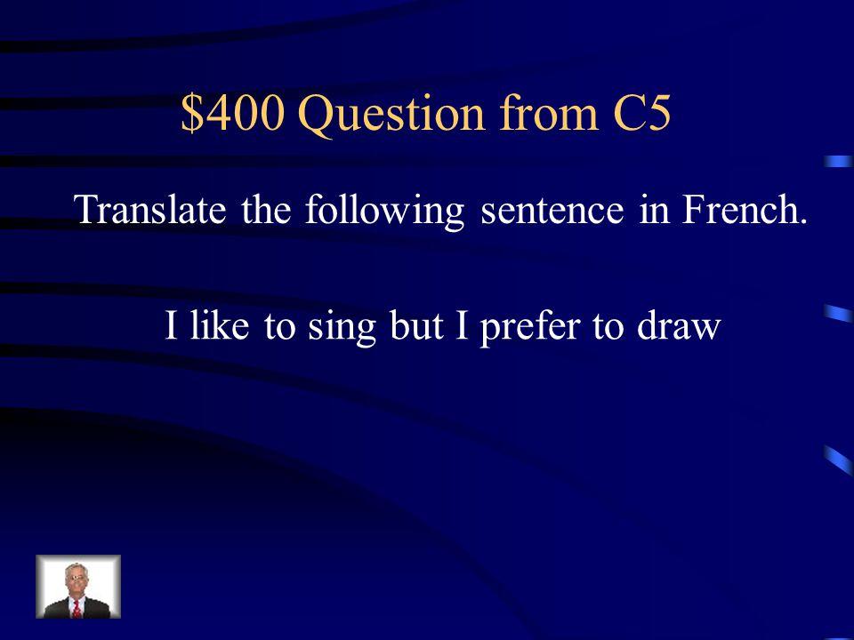 $300 Answer from C5 Aziz adore jouer aux échecs.
