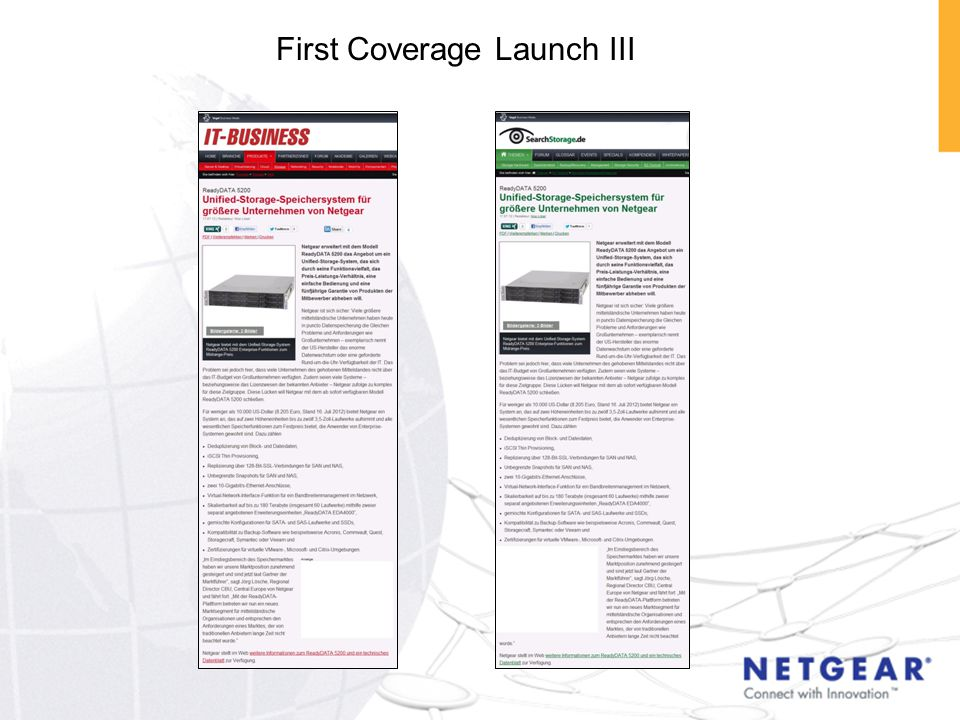 First Coverage Launch III